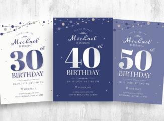 Birthday Party Flyer / Invitation Template (PSD, Ai, Vector, EPS)