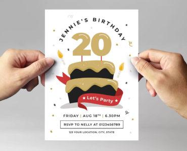 Birthday Party Flyer Template (PSD, Ai, Vector, EPS)