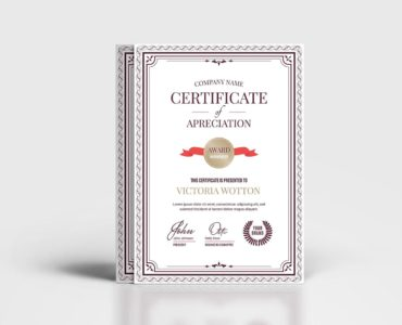 Certificate Template (PSD, Ai, Vector)
