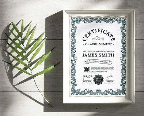 Classic Certificate Template (PSD, Ai, Vector)