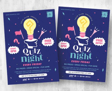 Quiz Night Flyer Template [PSD, Ai, Vector]