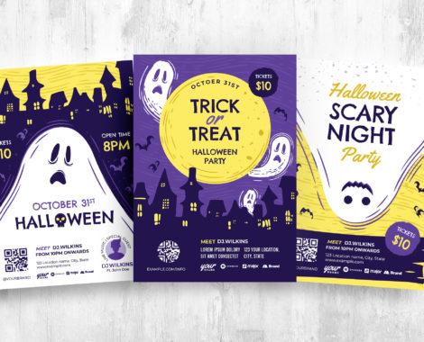Halloween Ghost Walk Flyer Template (PSD, Ai, Vector)