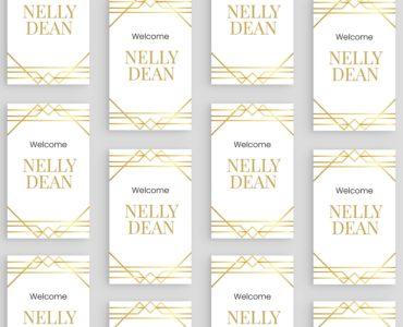 Art Deco Wedding Stationery Templates (PSD, Ai, Vector)