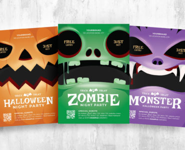 Halloween Character Flyer Templates in PSD, Ai, Vector