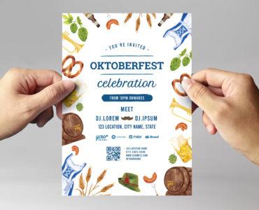 Oktoberfest Flyer Template (PSD, Ai, Vector)
