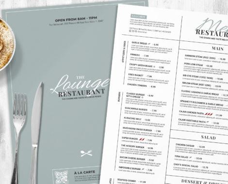 Restaurant Menu Template (PSD, Vector, INDD)