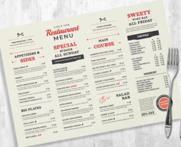 Rustic BBQ Barbecue Menu Templates (PSD, Ai, INDD)