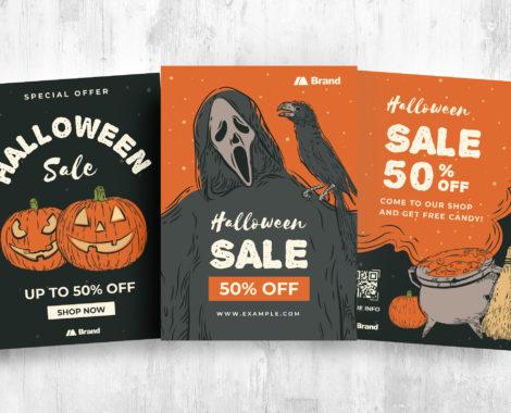 Simple Halloween Flyer Templates [PSD, Ai, Vector]