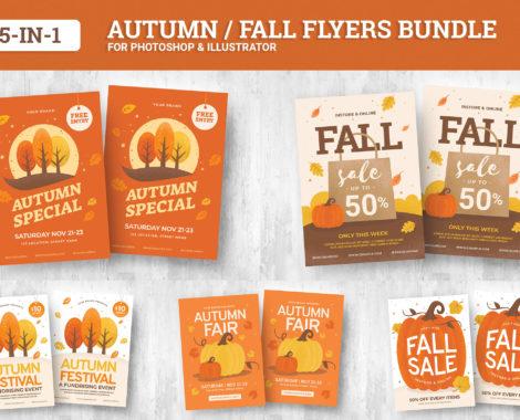 Autumn / Fall Flyer Templates Bundle