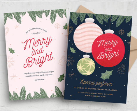 Christmas Card Flyer Template (PSD, AI, Vector Formats)