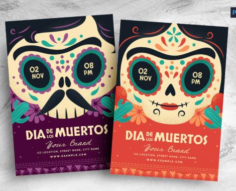 Dia De Los Muertos Flyer Template (PSD, AI, Vector Formats)
