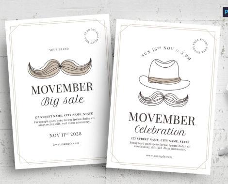 Movember Flyer Templates (PSD, AI, Vector Formats)
