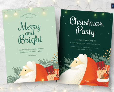 Modern Christmas Flyer (PSD, AI, Vector Formats)